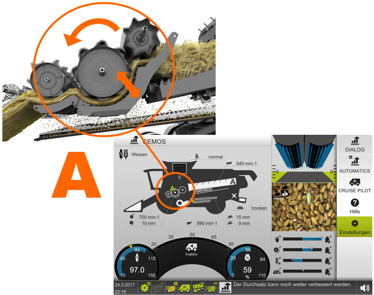 Agritechnica 2019 Innovation Award 2017 Walker Mower Wiring Diagram For Charging Unit Currently Operators Have To Find Out By Themselves Which Settings Strike The Best Balance Between Optimum Drum Speed Concave Gap